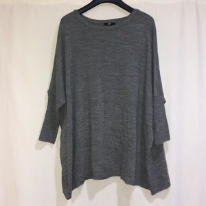 CHARCOAL GRAY OVER SIZED SWEATER